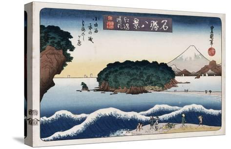Clearing Weather, Enoshima, from the Series 'Eight Views of Famous Places'-Ando Hiroshige-Stretched Canvas Print