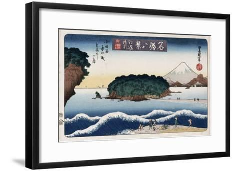 Clearing Weather, Enoshima, from the Series 'Eight Views of Famous Places'-Ando Hiroshige-Framed Art Print