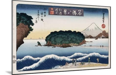 Clearing Weather, Enoshima, from the Series 'Eight Views of Famous Places'-Ando Hiroshige-Mounted Giclee Print