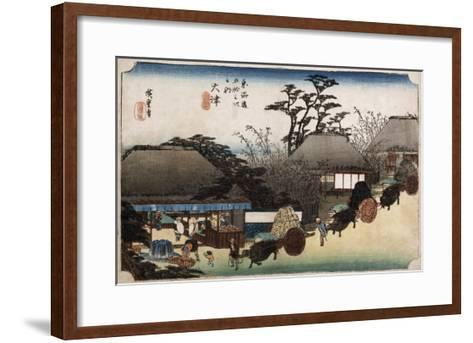 The Running Well Teahouse, Otsu', from the Series 'The Fifty-Three Stations of the Tokaido'-Ando Hiroshige-Framed Art Print