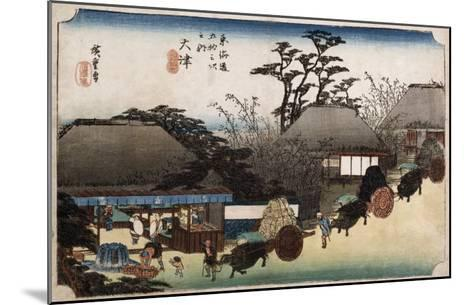 The Running Well Teahouse, Otsu', from the Series 'The Fifty-Three Stations of the Tokaido'-Ando Hiroshige-Mounted Giclee Print