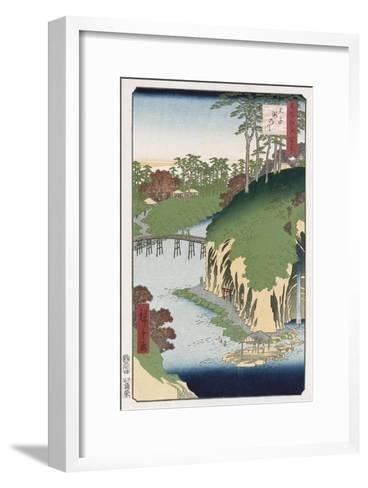 River of Waterfalls, Oji', from the Series 'One Hundred Views of Famous Places in Edo'-Hashiguchi Goyo-Framed Art Print