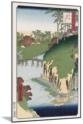 River of Waterfalls, Oji', from the Series 'One Hundred Views of Famous Places in Edo'-Hashiguchi Goyo-Mounted Giclee Print