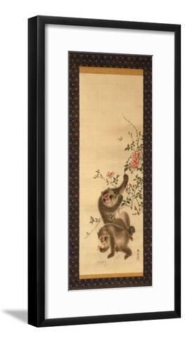 Monkeys and Roses-Hashiguchi Goyo-Framed Art Print