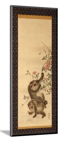 Monkeys and Roses-Hashiguchi Goyo-Mounted Giclee Print