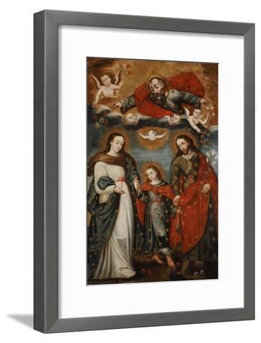 The Sacred Family, Anonymous, Cuzco School, 18th Century-Jose Agustin Arrieta-Framed Art Print