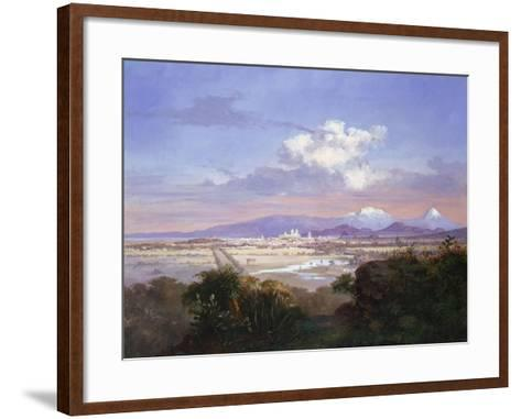 The Valley of Mexico with Volcanoes, 1879-Salvador Murillo-Framed Art Print