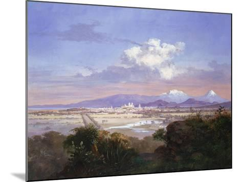 The Valley of Mexico with Volcanoes, 1879-Salvador Murillo-Mounted Giclee Print