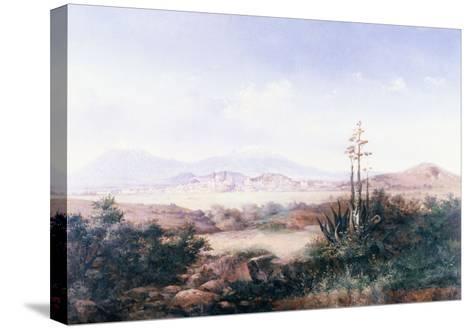 View of the Pueblo with Volcanoes-Emilio Boggio-Stretched Canvas Print