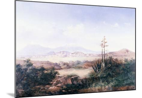 View of the Pueblo with Volcanoes-Emilio Boggio-Mounted Giclee Print