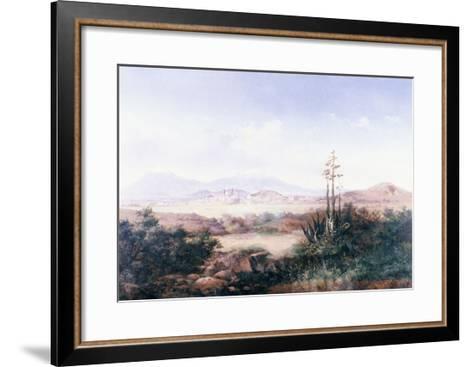 View of the Pueblo with Volcanoes-Emilio Boggio-Framed Art Print