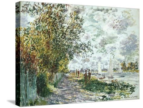 La Berge Du Petit-Gennevilliers, Circa 1875-Eug?ne Boudin-Stretched Canvas Print