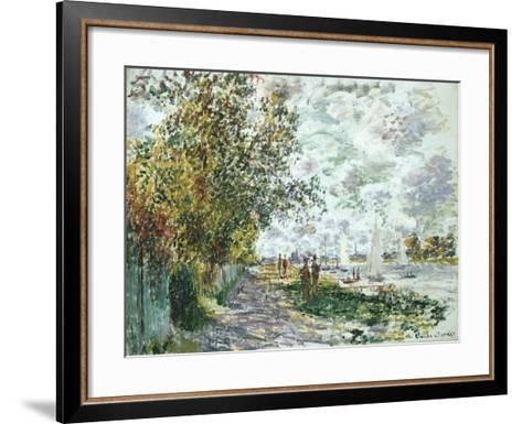 La Berge Du Petit-Gennevilliers, Circa 1875-Eug?ne Boudin-Framed Art Print