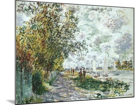 La Berge Du Petit-Gennevilliers, Circa 1875-Eug?ne Boudin-Mounted Giclee Print