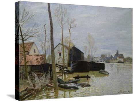The Floods at Moret, Les Inondations a Moret, 1889-Eug?ne Boudin-Stretched Canvas Print