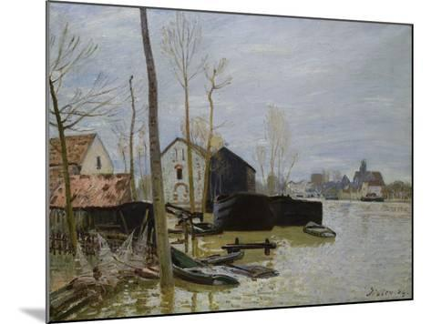 The Floods at Moret, Les Inondations a Moret, 1889-Eug?ne Boudin-Mounted Giclee Print
