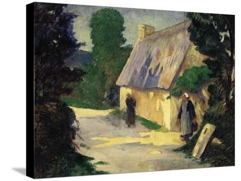 The Village Path, 1890-Eug?ne Boudin-Stretched Canvas Print