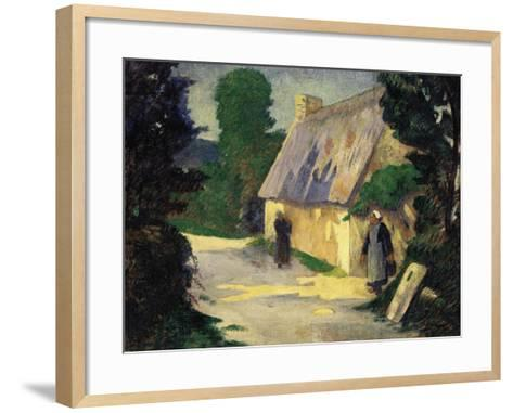 The Village Path, 1890-Eug?ne Boudin-Framed Art Print