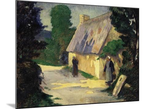 The Village Path, 1890-Eug?ne Boudin-Mounted Giclee Print