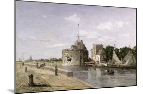 The Tower of Francis I at Le Havre, 1854-Eug?ne Boudin-Mounted Giclee Print