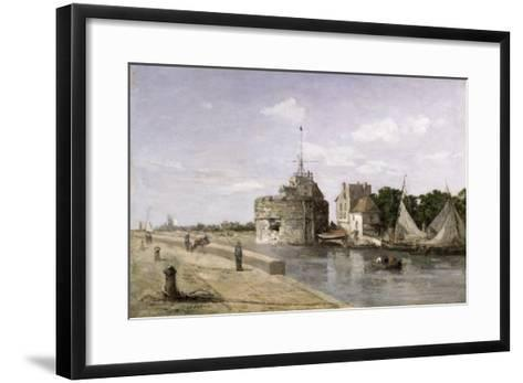 The Tower of Francis I at Le Havre, 1854-Eug?ne Boudin-Framed Art Print