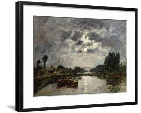 Moonlight, 1891-Eug?ne Boudin-Framed Art Print