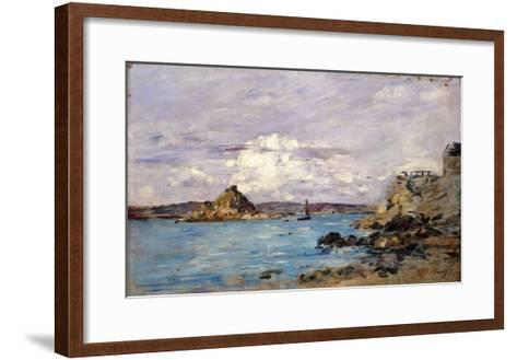 Douarnenez: the Bay (Draft); La Baie (Esquisse), 1895-1897-Eug?ne Boudin-Framed Art Print