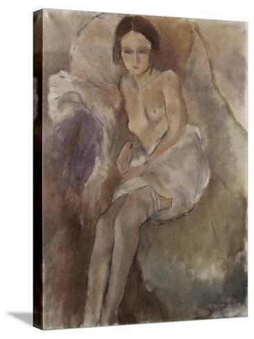 Seated Woman-Mary Cassatt-Stretched Canvas Print