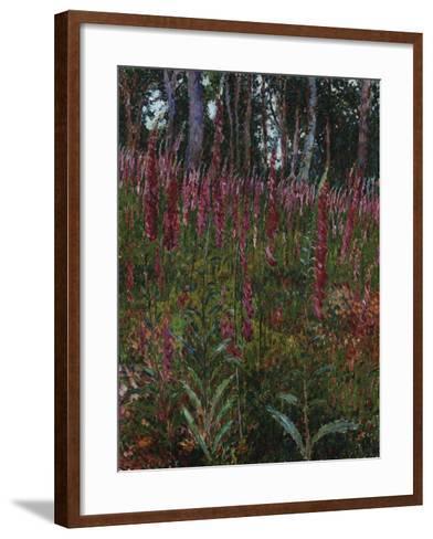 Garden with Foxgloves-Eug?ne Boudin-Framed Art Print
