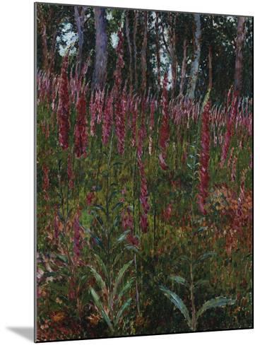 Garden with Foxgloves-Eug?ne Boudin-Mounted Giclee Print