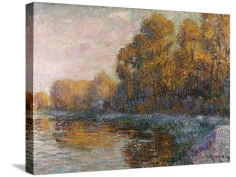 River in Autumn, 1909-Eug?ne Boudin-Stretched Canvas Print