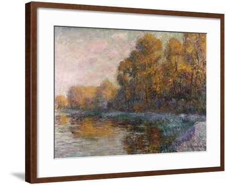 River in Autumn, 1909-Eug?ne Boudin-Framed Art Print