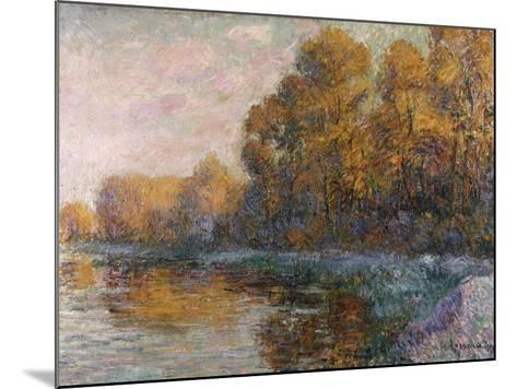 River in Autumn, 1909-Eug?ne Boudin-Mounted Giclee Print
