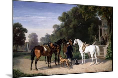 Awaiting the Departure, 1861-Henry Thomas Alken-Mounted Giclee Print