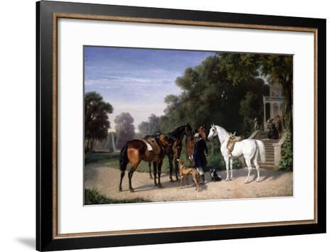 Awaiting the Departure, 1861-Henry Thomas Alken-Framed Art Print