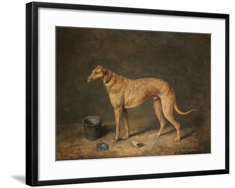 A Deerhound in a Stable Interior, 1817-Henry Thomas Alken-Framed Art Print