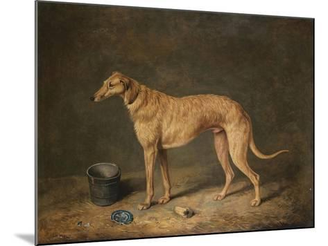 A Deerhound in a Stable Interior, 1817-Henry Thomas Alken-Mounted Giclee Print
