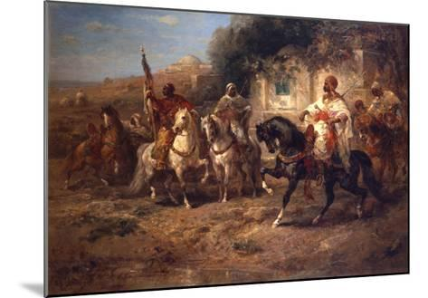Arab Horsemen by a Fountain-Jean-Baptiste-Camille Corot-Mounted Giclee Print