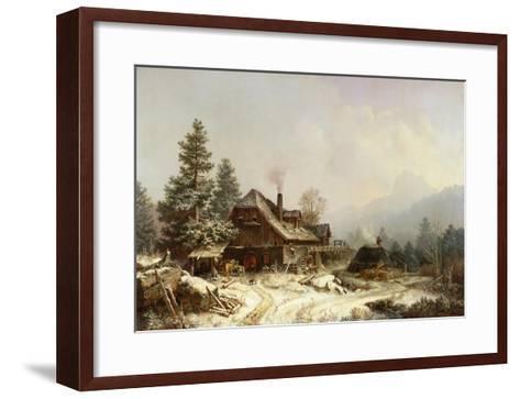 The Old Mill in Winter-Eug?ne Boudin-Framed Art Print