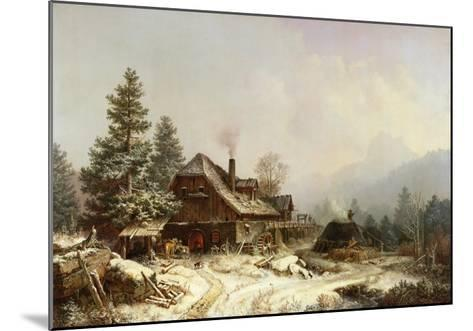 The Old Mill in Winter-Eug?ne Boudin-Mounted Giclee Print