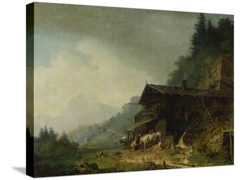 A Forge in the Bavarian Alps-Sir William Beechey-Stretched Canvas Print
