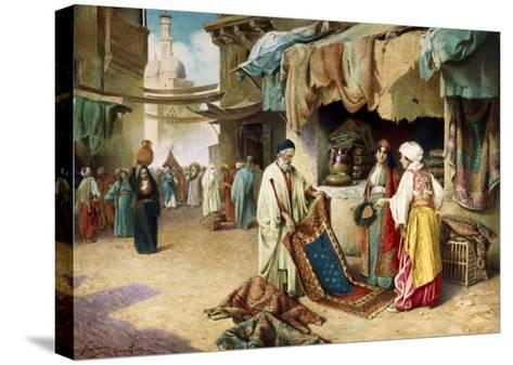 The Carpet Seller-Federico Ballesio-Stretched Canvas Print