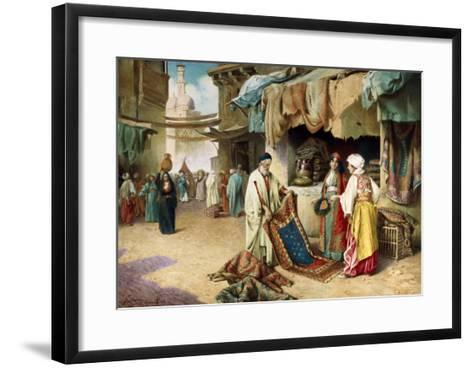 The Carpet Seller-Federico Ballesio-Framed Art Print