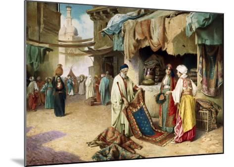 The Carpet Seller-Federico Ballesio-Mounted Giclee Print