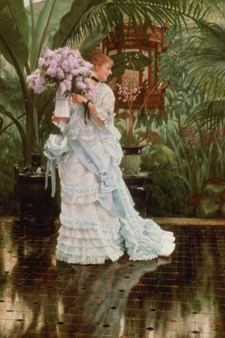 The Bunch of Lilacs, 1875-Sir Lawrence Alma-Tadema-Stretched Canvas Print