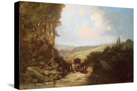 Landscape with Carriage-Leon Bakst-Stretched Canvas Print