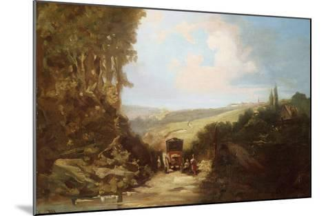 Landscape with Carriage-Leon Bakst-Mounted Giclee Print