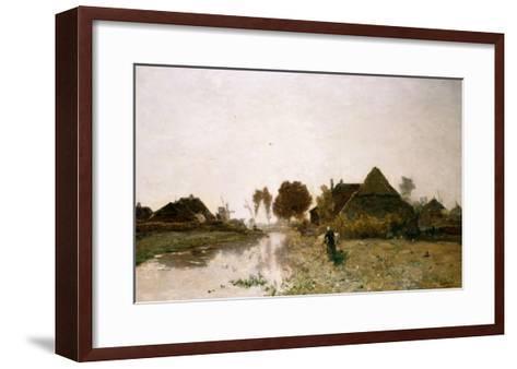 A Dutch River Landscape with Windmills-Henry Thomas Alken-Framed Art Print