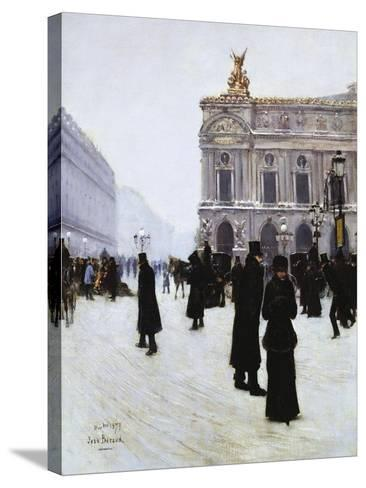 Outside the Opera, Paris, 1879-Jean B?raud-Stretched Canvas Print