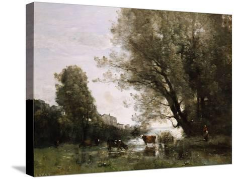Pond's Edge in Normandy-Henry Thomas Alken-Stretched Canvas Print
